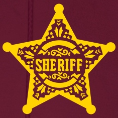 Sheriff Star Badge, Lincoln County, Old West Hoodies