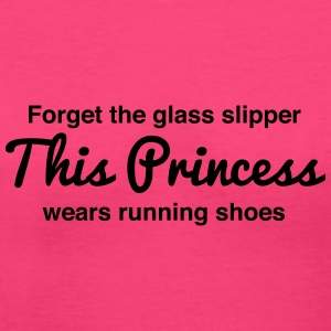 This princess wears running shoes Women's T-Shirts - Women's V-Neck T-Shirt