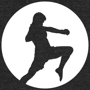 Ninja Fighter - Martial Arts T-Shirts - Unisex Tri-Blend T-Shirt by American Apparel