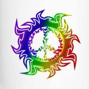 rainbowbutterflypeace Bottles & Mugs - Travel Mug