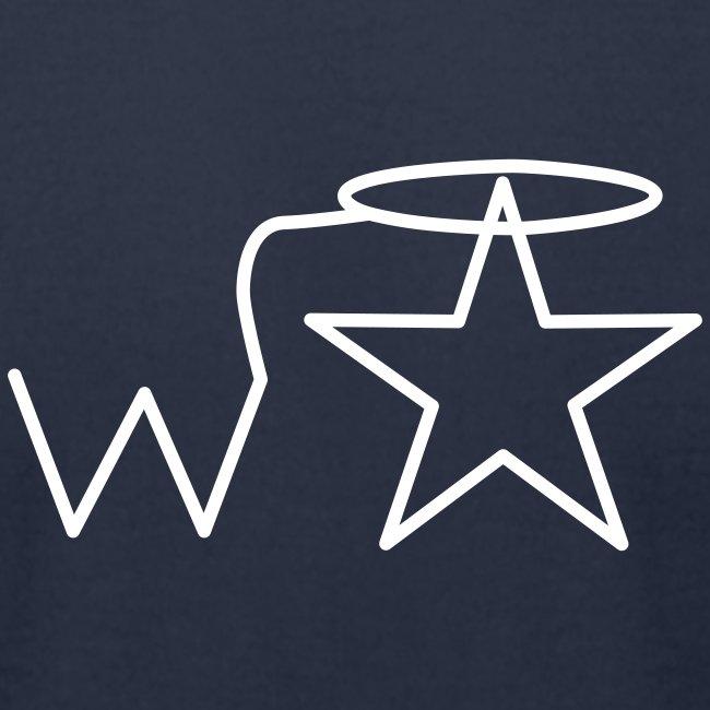 Men'sl White Logo S-3X Wranglerstar