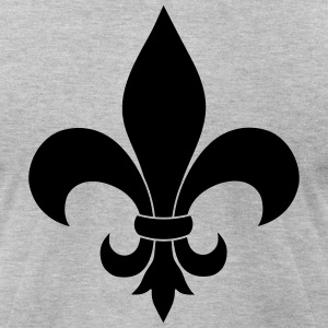 Fleur De Lis - Men's T-Shirt by American Apparel
