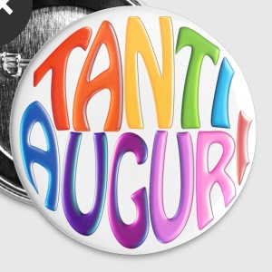 Tanti Auguri (Round Text)  - Large Buttons