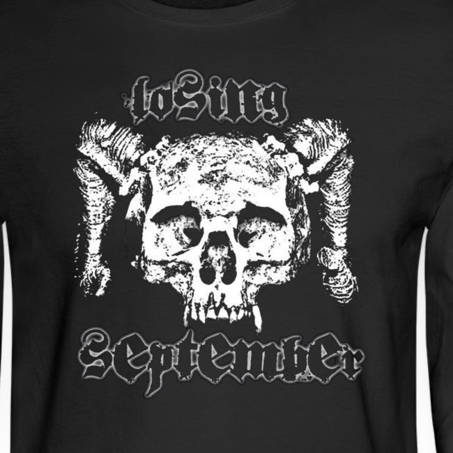 Men's Long Sleeve - Skull w/ text on back