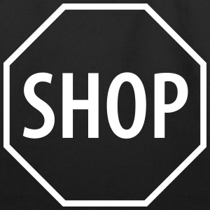 Shop Stop Sign - Eco-Friendly Cotton Tote