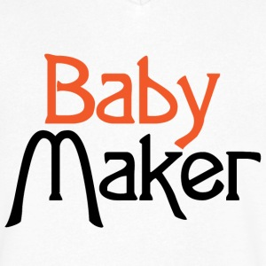 Baby Maker T-Shirts - Men's V-Neck T-Shirt by Canvas