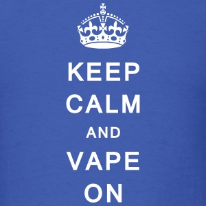 'Keep Calm & Vape On' Men's T-Shirt - Men's T-Shirt