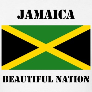 Jamaica Flag + Text T-Shirt - Men's T-Shirt