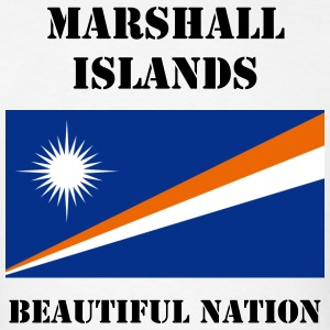Marshall Islands Flag + Text T-Shirt - Men's T-Shirt