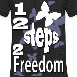 12 Steps To Freedom - Unisex Tri-Blend T-Shirt by American Apparel