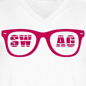 SWAG SHADES T-Shirts - Men's V-Neck T-Shirt by Canvas
