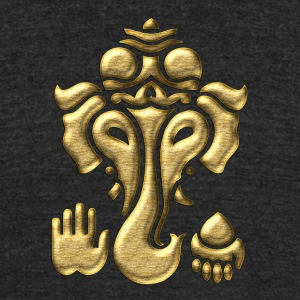 Ganesha - Elephant God - Hinduism, Tantra  T-Shirts - Unisex Tri-Blend T-Shirt by American Apparel