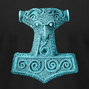 Original Thors Hammer, Asgard, Odin, Mjolnir T-Shirts - Men's T-Shirt by American Apparel