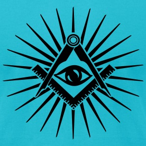 Masonic symbol, all seeing eye, freemason T-Shirts - Men's T-Shirt by American Apparel