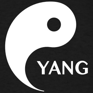 Yang looking for Yin, Part 2, tao, dualities T-Shirts - Men's T-Shirt