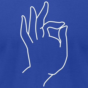 Vitarka mudra - buddhism - gesture of discussion T-Shirts - Men's T-Shirt by American Apparel