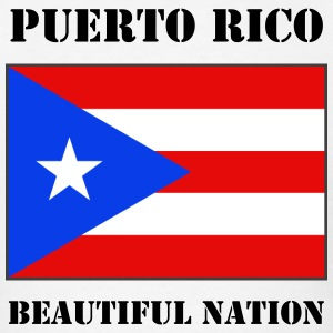 Puerto Rico Flag + Text T-Shirt - Men's T-Shirt