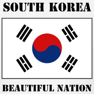 South Korea Flag + Text T-Shirt - Men's T-Shirt