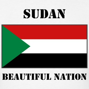 Sudan Flag + Text T-Shirt - Men's T-Shirt