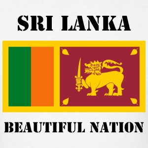 Sri Lanka Flag + Text T-Shirt - Men's T-Shirt