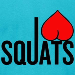 I love [heart] squats - Men's T-Shirt by American Apparel