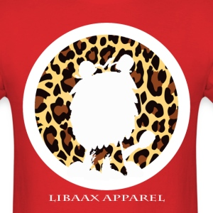 The Silhouette Logo in Leopard Print - Men's T-Shirt