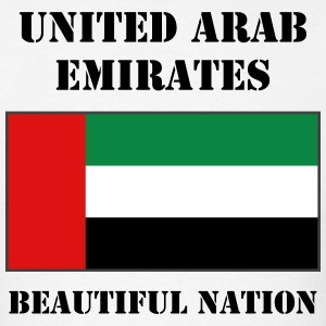 United Arab Emirates Flag + Text T-Shirt - Men's T-Shirt