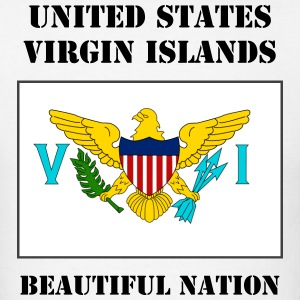 US Virgin Islands Flag + Text T-Shirt - Men's T-Shirt