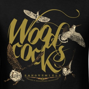 woodcocks_on_black T-Shirts - Men's T-Shirt
