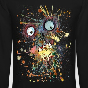shocked zombie Long Sleeve Shirts - Crewneck Sweatshirt