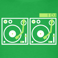 Design ~ I DJ - with 2 Vinyl Turntables - 2 color flex