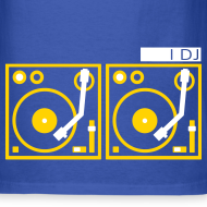 Design ~ I DJ - with 2 Turntables - flex print, 2 colors