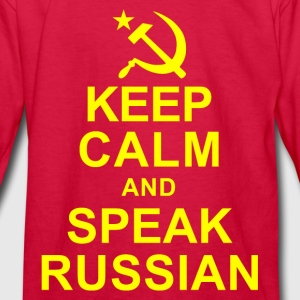 Keep Calm and Speek Russian Kids' Shirts - Kids' Long Sleeve T-Shirt