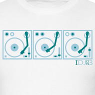 Design ~ I DJ - on 3 Turntables - Semipro - 2 color flex print
