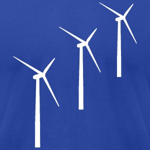 3 wind turbines T-Shirts - Men's T-Shirt by American Apparel