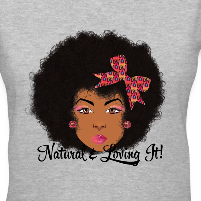 Afro Bow Fro V-Neck