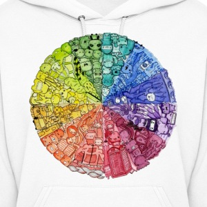 color wheel doodle Hoodies - Women's Hoodie