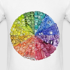 color wheel doodle T-Shirts - Men's T-Shirt