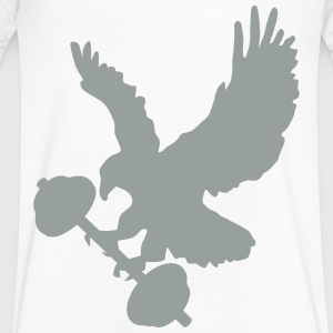 Eagle holding barbell T-Shirts - Men's V-Neck T-Shirt by Canvas