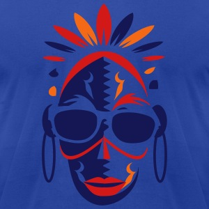 African mask with sunglasses T-Shirts - Men's T-Shirt by American Apparel