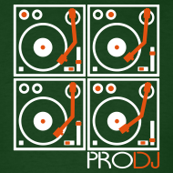Design ~ I DJ - 4 Turntable - PRO DJ - 2 color FLOCK print