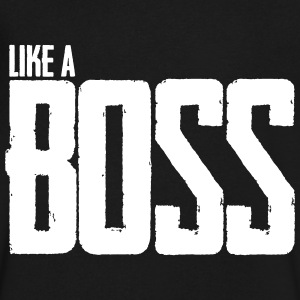 Like A Boss T-Shirts - Men's V-Neck T-Shirt by Canvas