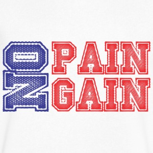 No Pain No Gain T-Shirts - Men's V-Neck T-Shirt by Canvas