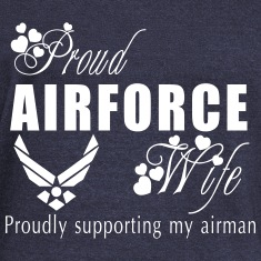 air force wife Long Sleeve Shirts