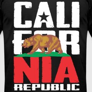 California Republic T-Shirts - Men's T-Shirt by American Apparel