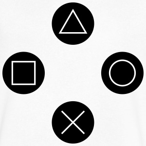 Square, cross, circle, triangle T-Shirts - Men's V-Neck T-Shirt by Canvas