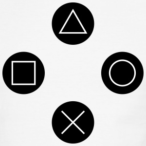Square, cross, circle, triangle T-Shirts - Men's Ringer T-Shirt