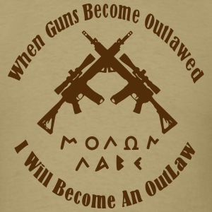 Men's Brown I will be an outlaw Shirt - Men's T-Shirt