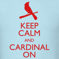 Design ~ Keep Calm and Cardinal On - Blue