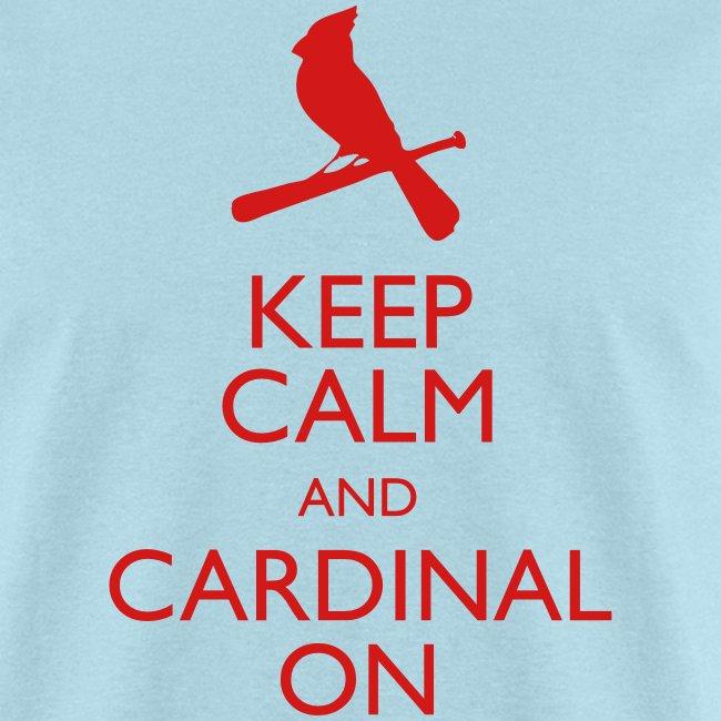 Keep Calm and Cardinal On - Blue